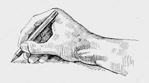 Pisząca ręka Grafika - kreda pisząca, język migowy historia stockowe  wektory i ilustracje | Depositphotos