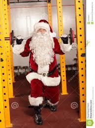Święty Mikołaj Podnosi Ciężary W Gym Obraz Stock - Obraz złożonej z  ciężary, mikołaj: 47504307