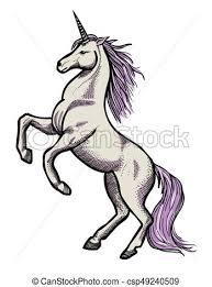 Wizerunek, rysunek, jednorożec. Wizerunek, picture., artystyczny, unicorn.,  freehand, rysunek. | CanStock