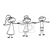 Fototapeta rysunek rysunek ręka szczęście charakter na wymiar • sztuka,  dziewczyna, ludzie • REDRO.pl
