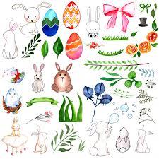 Akwarela Wielkanocne Elementy Kolekcji | Darmowy Wektor