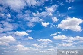 Fototapeta Piękne chmury i błękitne niebo • Pixers® - Żyjemy by zmieniać